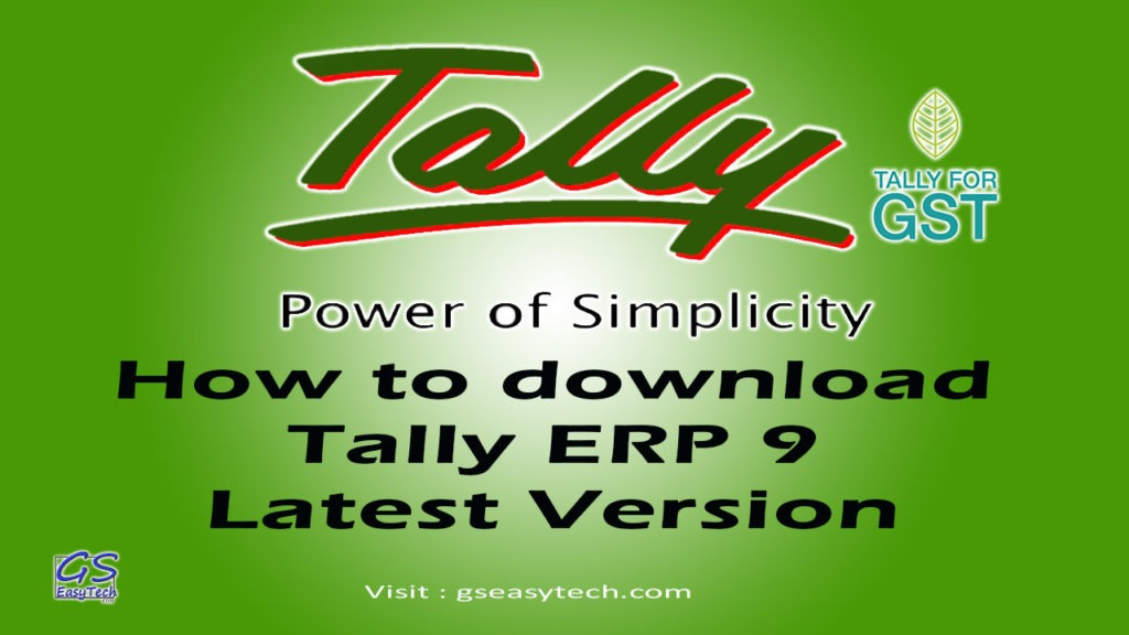 How to download Tally Latest version