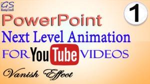 Powerpoint Animation vanishing effect