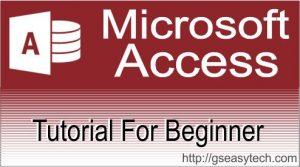 Ms-Access Tutorial in hindi