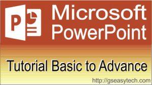 Ms-PowerPoint Tutorial in hindi