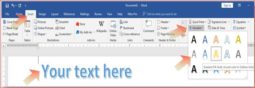 Using WordArt