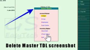 Delete empty master TDL screenshot