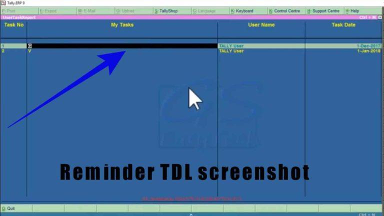 Reminder TDL screenshot
