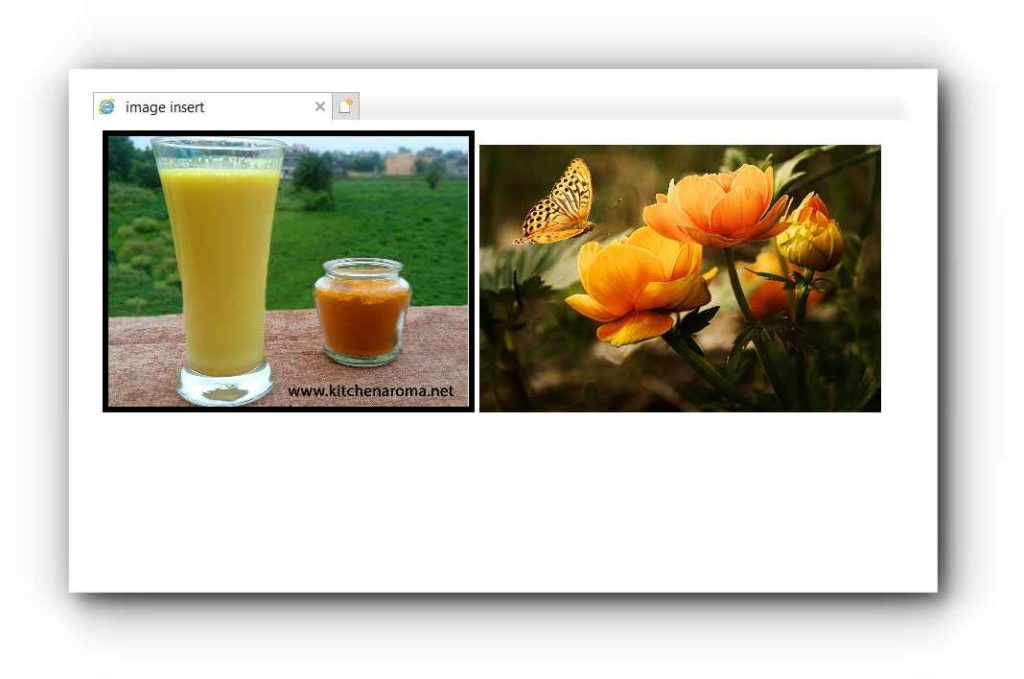 HTML मे Image Insert