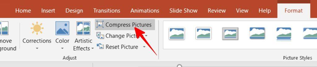 PowerPoint के फाइल को कॉम्परेस कैसे करे