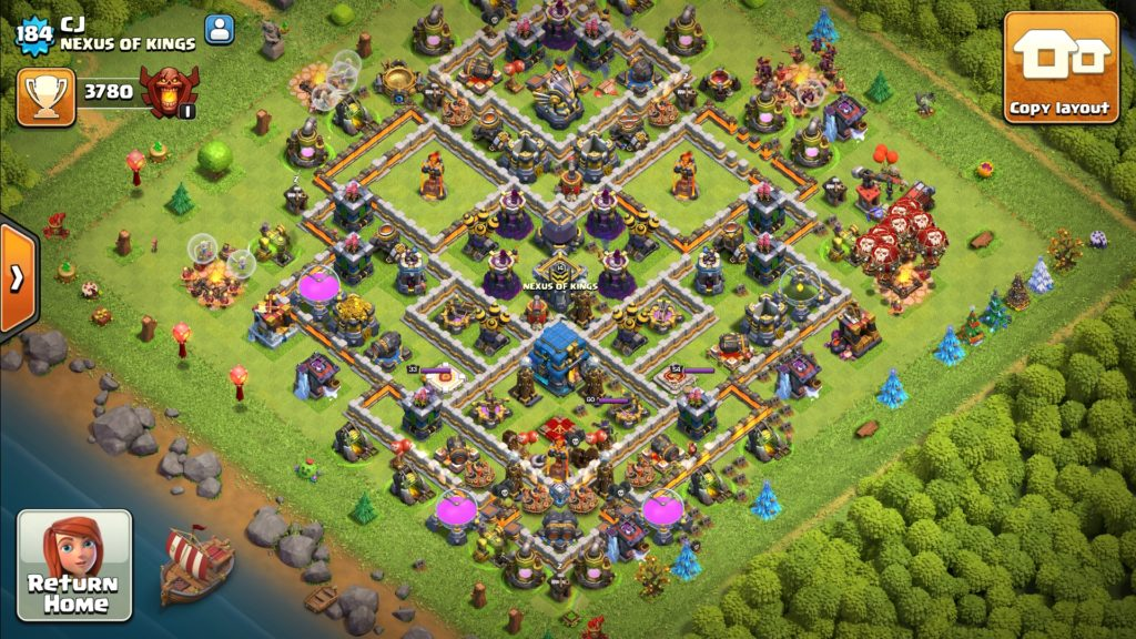 how to copy a clash of clans base layout