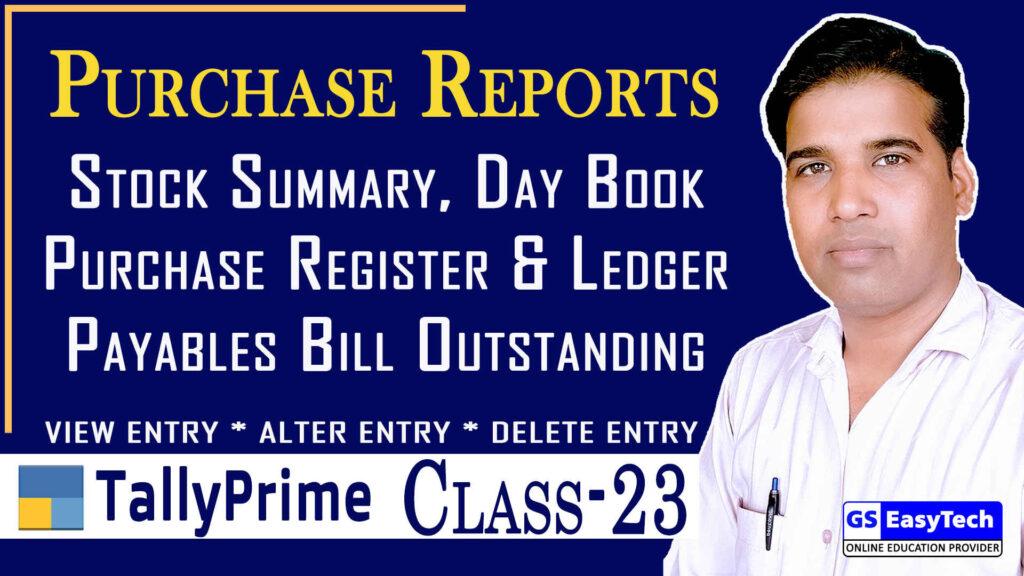Tally Prime Class 23